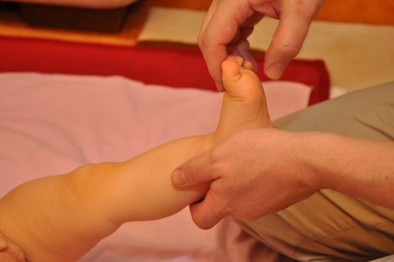 прием массажа - поглаживание стопы