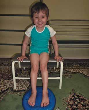 упражнение на балансировочной подушке